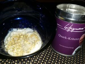 Quark-Kräuter auf Joghurt