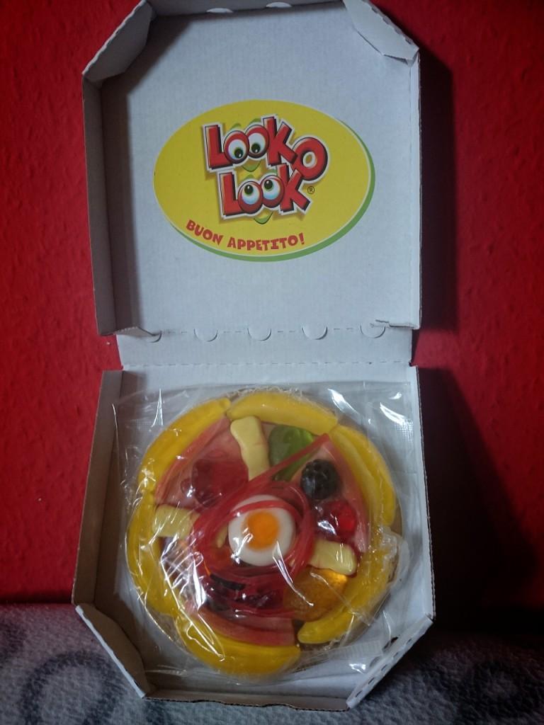 LOOK O LOOK Mini-Fruchtgummi-Pizza offen
