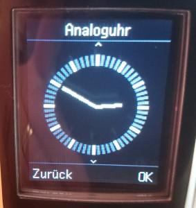 Gigaset C620A Bildschirmschoner Analoguhr