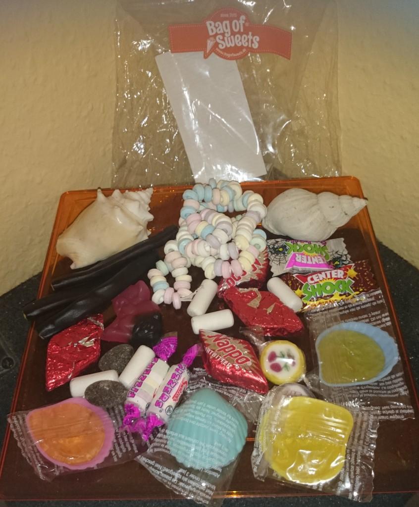 Bag of Sweets ohne selbsterstelltes Etikett Inhalt