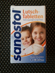 Wohlfühlbox September 2014  Sanostol Lutsch Tabletten