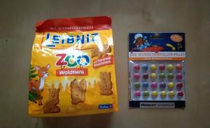 Degustabox Februar Leibniz ZOO Karamel und Bärenbande SchokoPillen