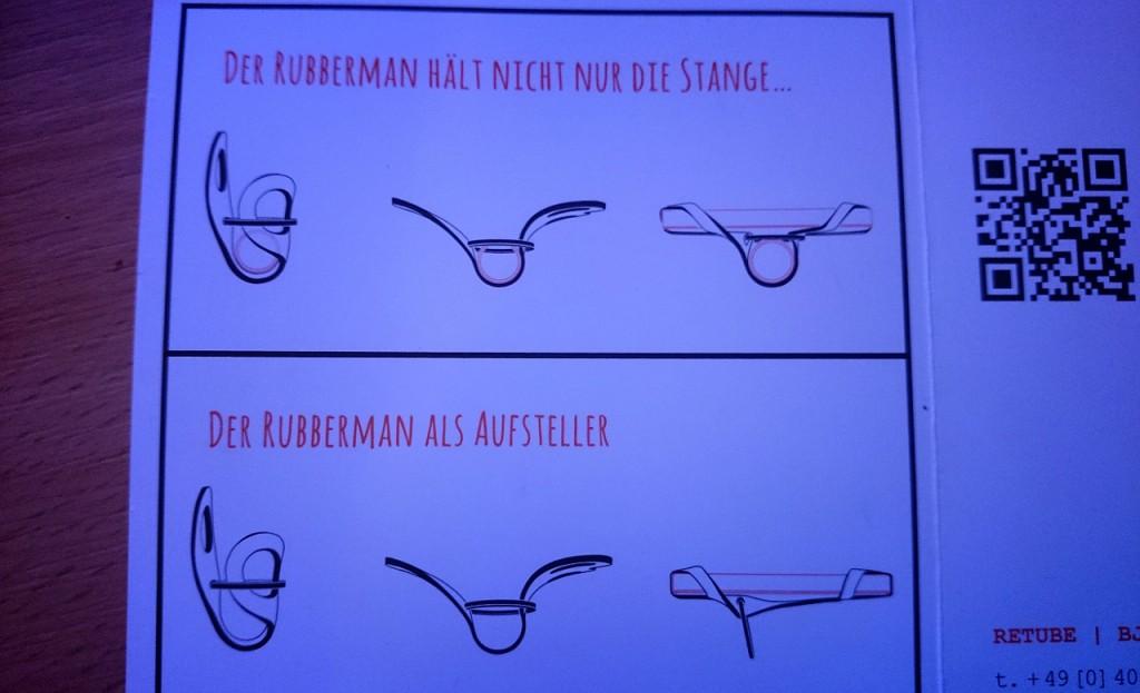 Rubberman möglichkeiten für Verwendung