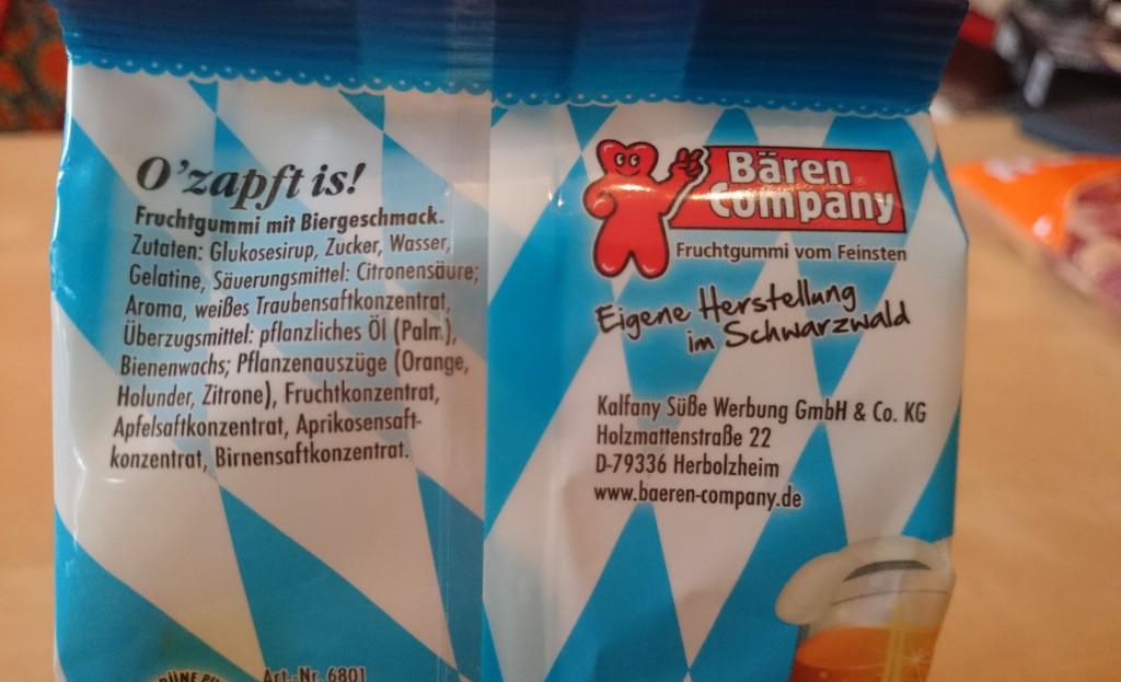 O'zapft is! - Bier Fruchtgumm Inhaltsangaben