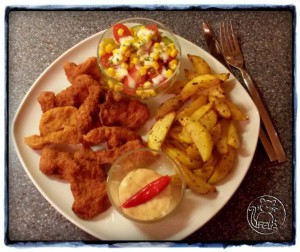 05 Vitam Chili Mayo - Chickenwings und Countrywedges