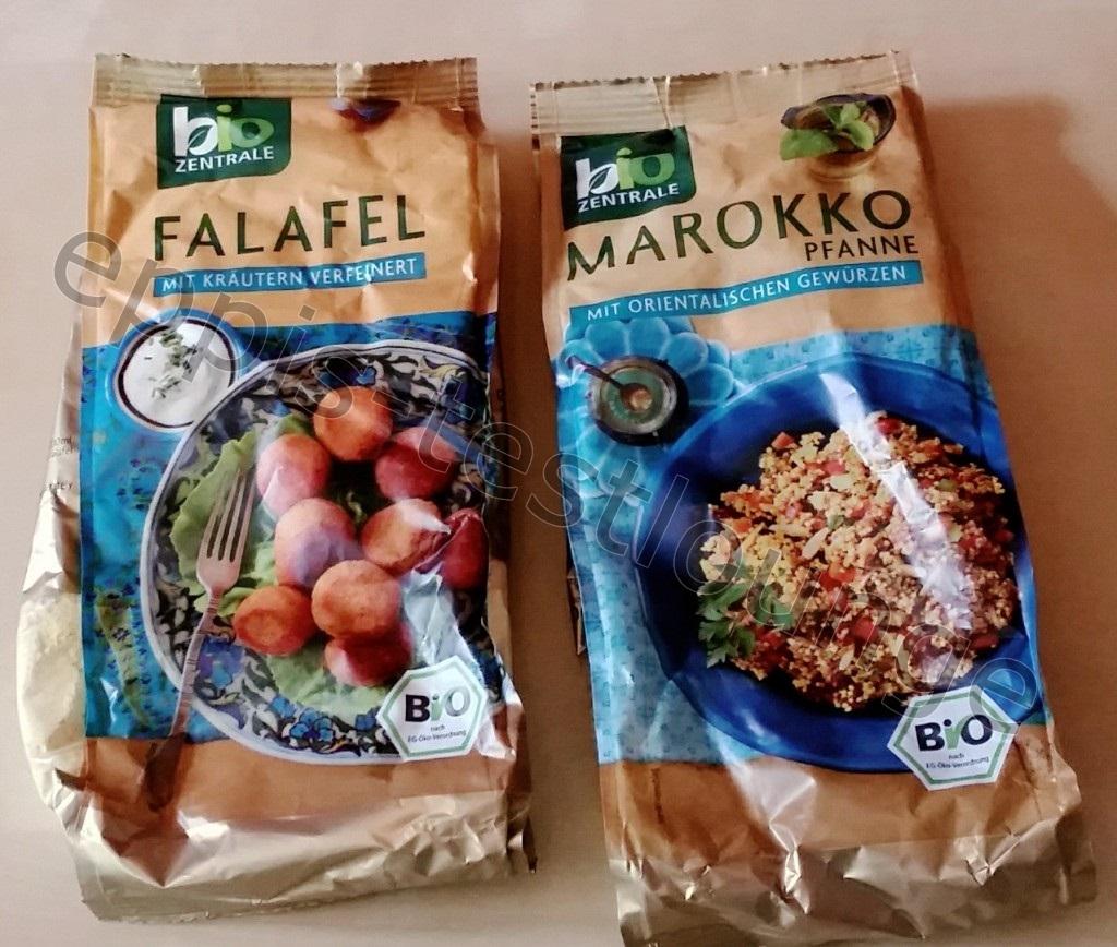 Biozentrale Falafel und Marokko Pfanne