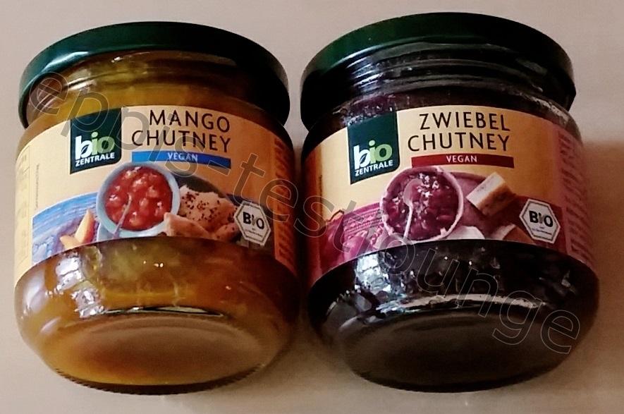 Biozentrale Mango Chutney und Zwiebel Chutney