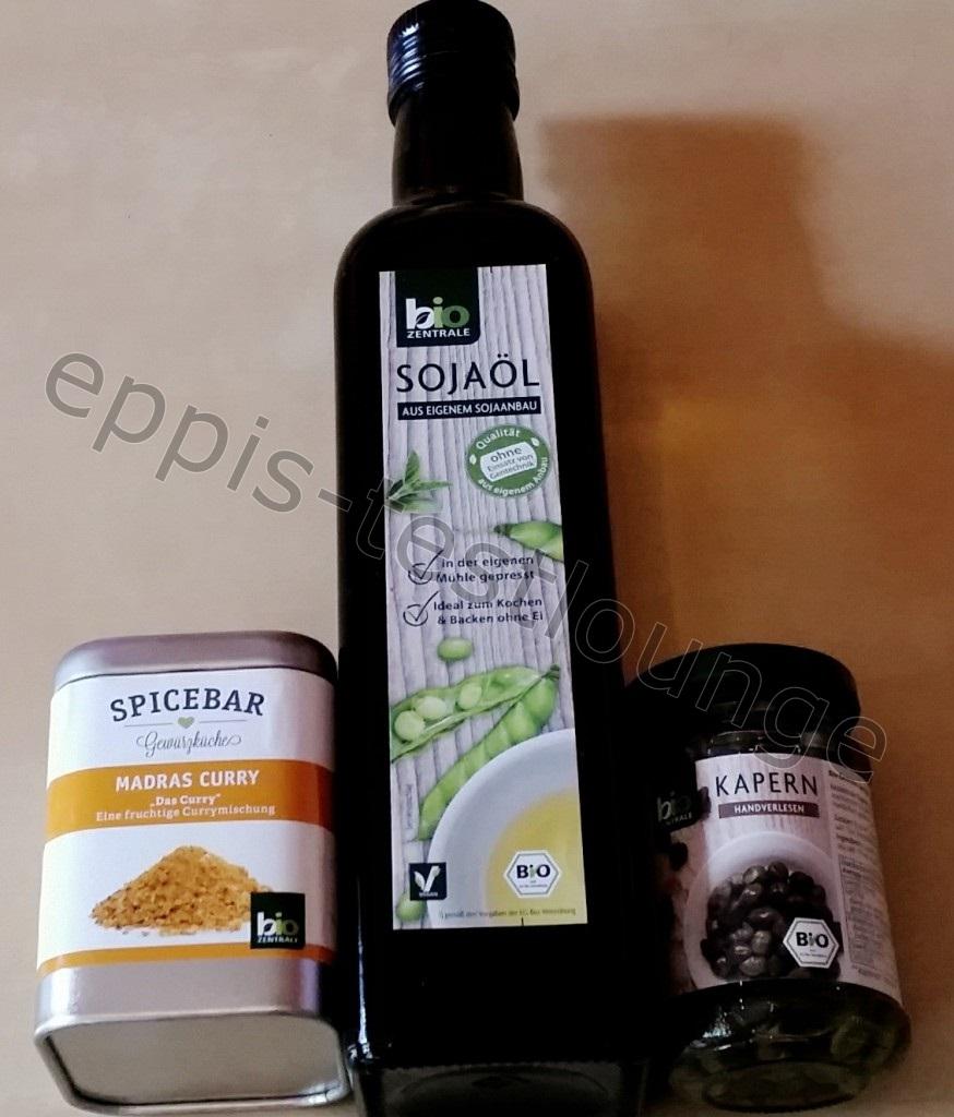 Biozentrale Spicebar Madras Curry, Sojaöl und Kapern