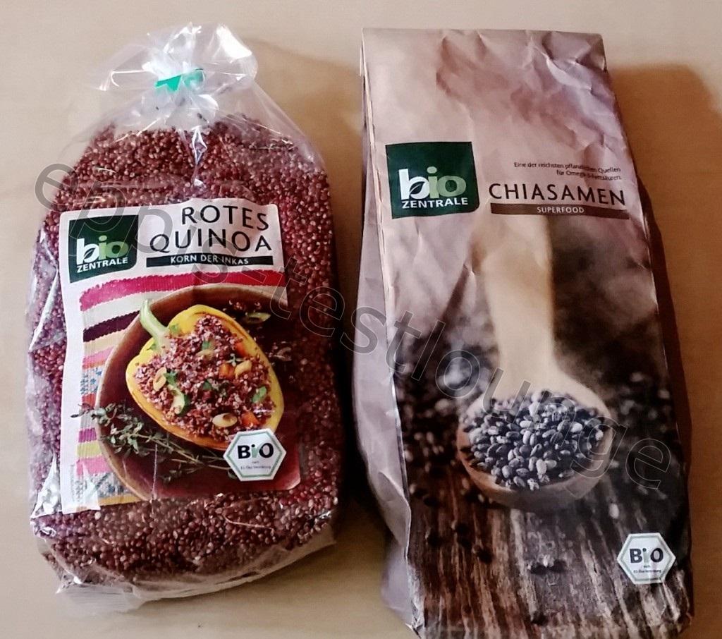 Biozentrale rotes Quinoa und Chia Samen