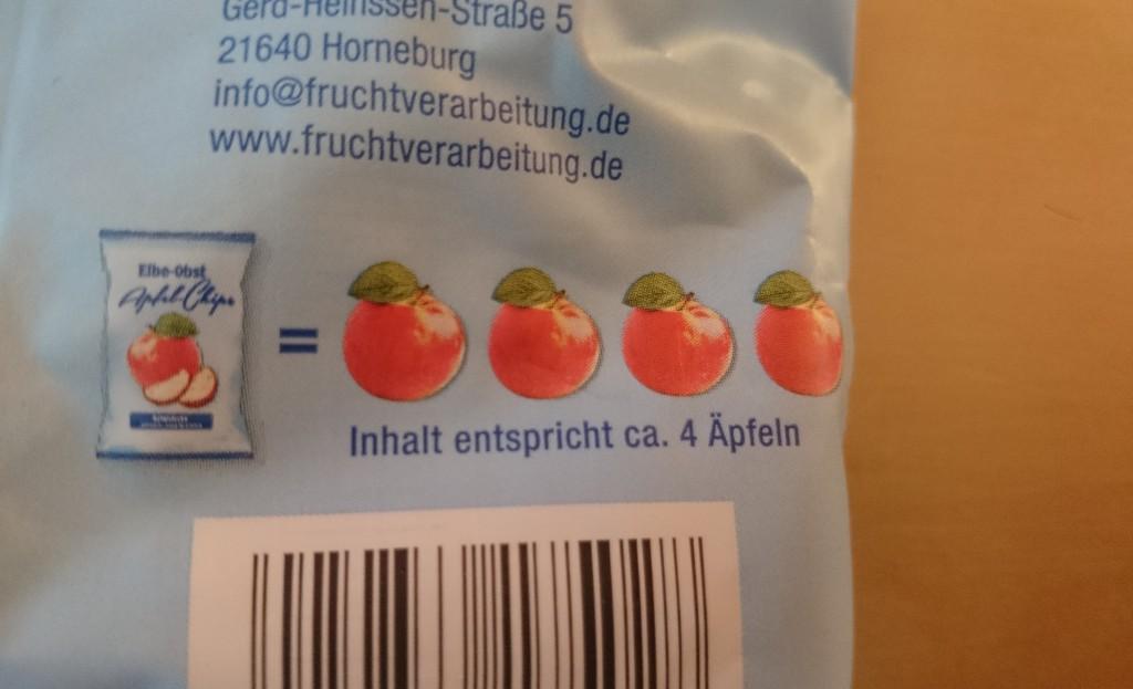 Elbe Obst Apfel Chips 4 Äpfel