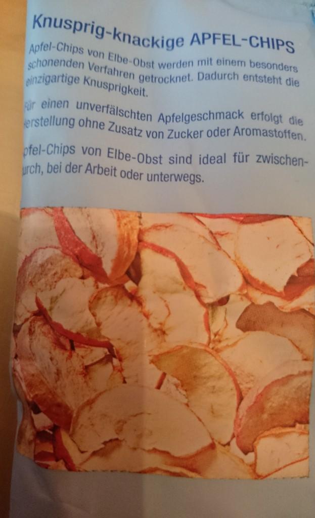 Elbe Obst Apfel Chips knusprig