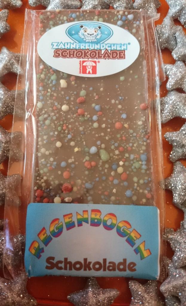 Zahnfreundchen Regenbogenschokolade