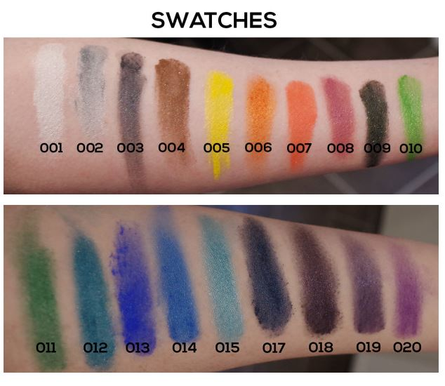 Swatches Alumi Cosmetics