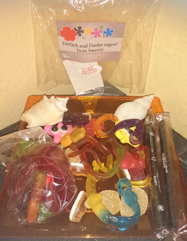 Bag of Sweets Danke sagen Inhalt