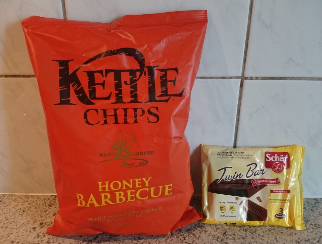 Brandnooz Genussbox Mai 2016 Kettle Chips, Schär Twinbar