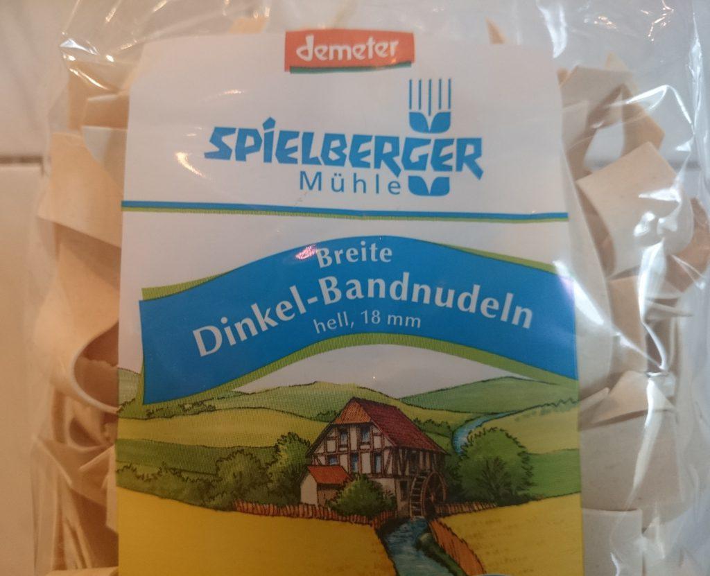 Breite Dinkel Bandnudeln Spielberger Mühle