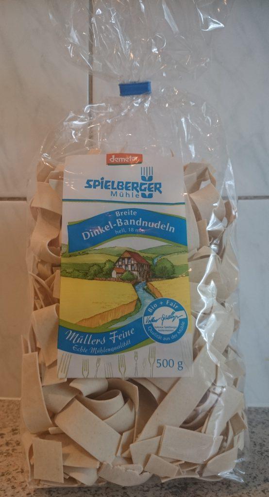 Breite Dinkel Bandnudeln von Spielberger Mühle