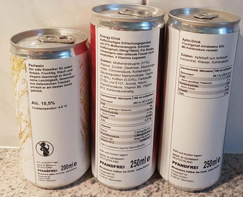 Wir machen Druck Getränkedosen Rückseite